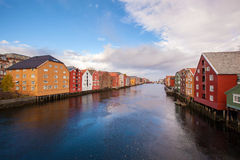 Trondheim cityscape Norway Royalty Free Stock Photos