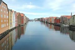 Trondheim-Fjord Lizenzfreies Stockfoto