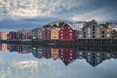 Trondheim. Image of norwegian city of Trondheim during twilight blue hour Stock Photo