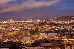 Trondheim at Night Stock Photography