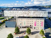 Rockheim Music Museum, Trondheim. TRONDHEIM, NORWAY - AUGUST 03, 2017: Rockheim or the National Discovery Centre for Pop and Rock Music is a national museum for Stock Photography