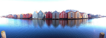 Trondheim, Norway. Generic architecture panorama Royalty Free Stock Photography