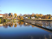 Trondheim Norway. River of Trondheim Norway in autumn Royalty Free Stock Images