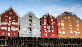Trondheim, Norwegen, alte Häuser Stockfotografie