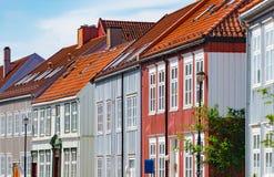 Trondheim old city view. Norway, Scandinavia, Europe Royalty Free Stock Photos