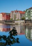 Trondheim old town view Stock Photo