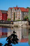 Trondheim old town view Stock Images