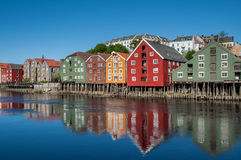 Trondheim old town view Royalty Free Stock Photography