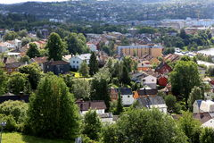 Trondheim small town in Norway Royalty Free Stock Photography