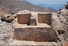 Tronen van Zeus en Hekate, Halki Stock Afbeelding