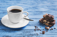Trong black espresso coffee Royalty Free Stock Images