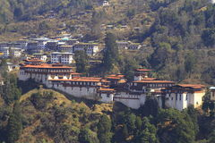 Trongsa Dzong Stock Afbeelding
