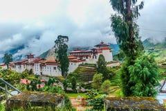 Trongsa Dzong, eins der ältesten dzongs in Bhutan Stockfotografie