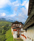 Trongsa Dzong Fortress in Bhutan. The Largest Fortress in Bhutan - Trongsa Dzong Stock Image
