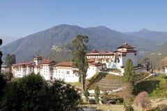 Trongsa Dzong, Trongsa, Bhutan Arkivbild