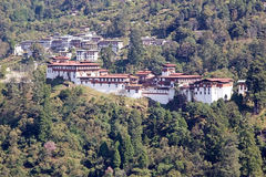 Trongsa Dzong, Trongsa, Bhutan. Trongsa Dzong is the largest dzong fortress in Bhutan. A temple was first established at the location in 1543 by the Drukpa Stock Images
