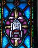 Trono celestial, Bíblia, e lâmpada imagem de stock