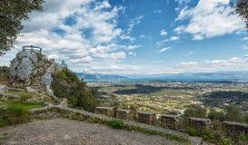 Trono de Kaisers, Corfu, Grécia imagem de stock
