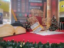 Trono de Papá Noel foto de archivo