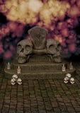 Trono del cráneo del horror libre illustration