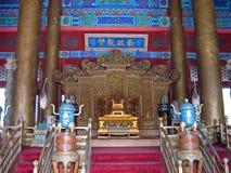 Trono del emperador chino Foto de archivo libre de regalías