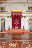 Trono dello zar San Pietroburgo Fotografie Stock Libere da Diritti