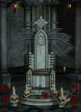 Trono gotico Fotografia Stock