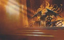 Trono oscuro de la fantasía ilustración del vector