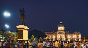 Trono Pasillo del palacio de Ananta Samakhom en Bangkok fotografía de archivo libre de regalías