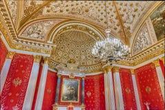 Trono pequeno Salão, museu de eremitério, St Petersburg, Rússia foto de stock
