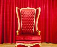 Trono real vermelho Fotografia de Stock Royalty Free