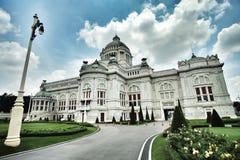 Trono Salão de Ananta Samakhom Fotografia de Stock
