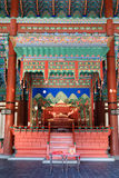 Trono Salão de Gyeongbokgung para dentro fotografia de stock royalty free