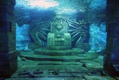Trono subaquático Imagens de Stock Royalty Free