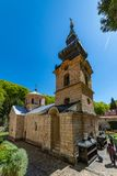 The Tronosa Monastery is a Serbian Orthodox monastery to the 14th Century, one of the oldest Orthodox. Loznica, Serbia - April 21, 2019: The Tronosa Monastery is stock image