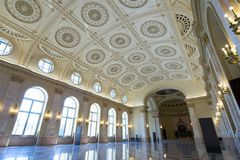 Tronowy obywatela muzeum Bucharest Rumunia fotografia royalty free