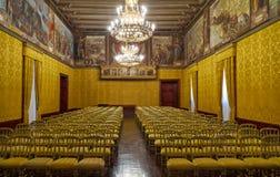 Tronowy pokój Grandmaster ` s pałac valletta Malta zdjęcia stock