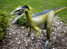 Troodon dinosaur. Model of the dinosaur in its natural size royalty free stock images