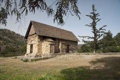 Troodos山的塞浦路斯小山顶教会 免版税库存照片