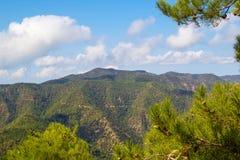 Troodos berg landskap, Cypern Royaltyfri Bild