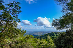 Troodos-Berg in Zypern, eine Ansicht von der Spitze Lizenzfreie Stockfotos