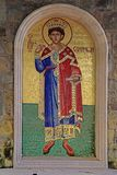 King Solomon Mosaic icon in greek orthodox church, Cyprus. Stock Image