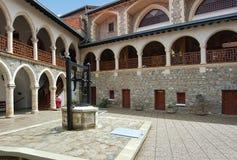 troodos de montagnes de monastère de kykkos de la Chypre image stock