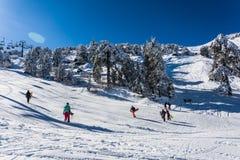 Troodos est la gamme la plus étendue de montagne en Chypre Images libres de droits