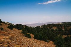 Troodos mountain landscape stock photos