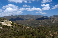 Troodos mountains  in cyprus Royalty Free Stock Photo