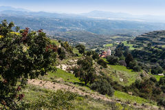 Troodos Mountains in Cyprus. Scenic landscape view of the countryside in the Troodos Mountains of central Cyprus Royalty Free Stock Photos