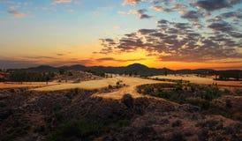 Troodos, paisaje de la montaña chipre Foto de archivo