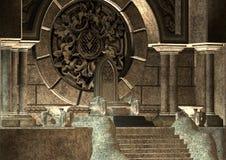 troon vector illustratie
