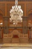 Troon Seat in Khilwat Mubarak van Chowmahalla-Paleis stock fotografie